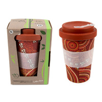 Coffee Cup Bamboo Aboriginal Design  - Dry Design - Luther Cora