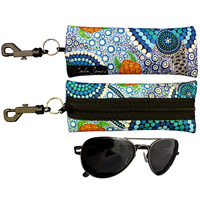 Sunglass Case Aboriginal Design - Colours of the Reef Design - Colin Jones