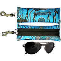 Sunglass Case Aboriginal Design - Hunter & Gathers Reef Design - Colin Jones