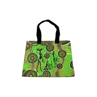 Bag Shoulder Aboriginal Design - Hunters & Gatherers Rainforest - Colin Jones